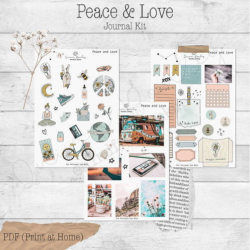Peace & Love Journal and Planner Kit