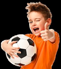 Bimbo che gioca a calcio