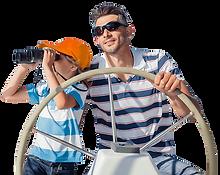 Padre e figlio skipper