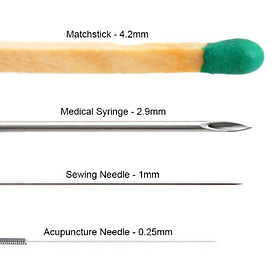 Size of the needle