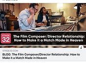 ELENA MARO BLOG STAGE32 THE RELATIONSHIP DIRECTOR COMPOSER FILM TELEVISION