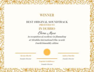 IN DUBBIO ELENA MARO BEST SOUNDTRACK MIRABILIA  AWARDS