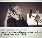 Elena Maro Compositrice Film Composer INterview Intervista