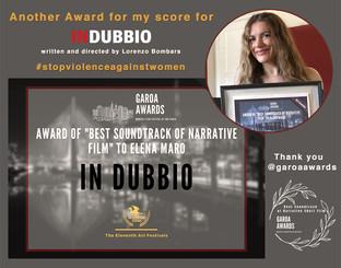IN DUBBIO ELENA MARO BEST SOUNDTRACK GAROA AWARDS