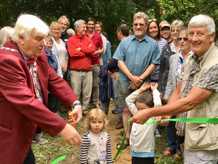 Official Opening of Spurrell's Wood - 'helping protect the ordinary'