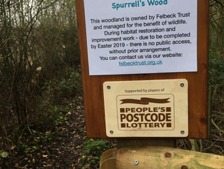 New signage at Spurrell's Wood