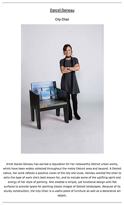 Chairs for Charity - Detroit Design Magazine