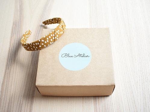Headband, Dots, mustard