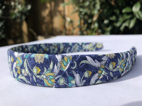 Headband, Liberty White Flowers