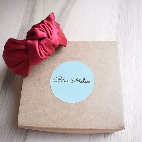 Red satin Knotted headband