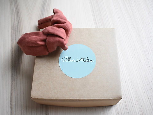 Red clay linen knotted headband