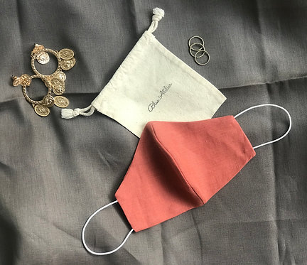 Vintage linen Red Clay