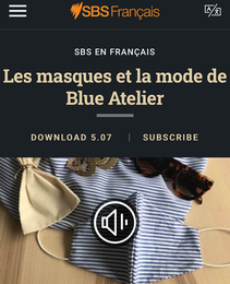 SBS French talks about Blue Atelier, merci beaucoup!