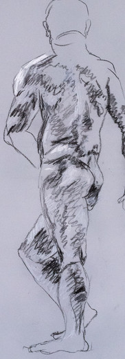 Standing Male figure (back)