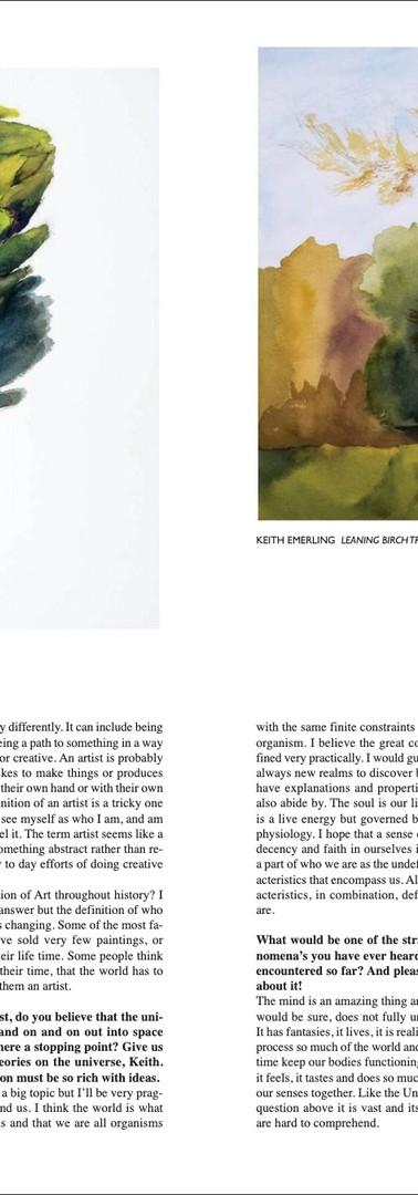 Keith Emerling Artist, Artful Mind Artzine, Oct-Nov 2020 Page 3
