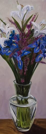 Irises, Lilies & Boronia