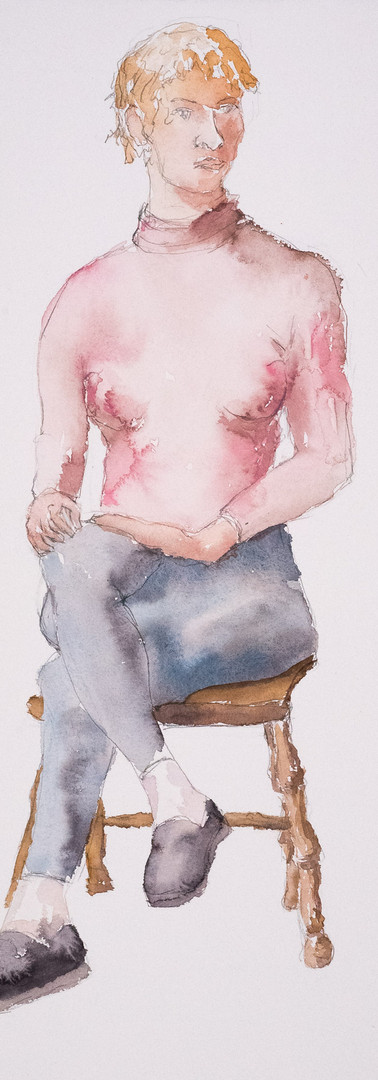 Seated Woman in Pink