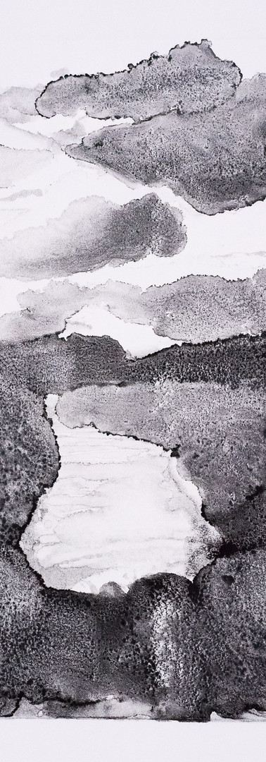 Mountain-scape with Lake (monoprint)