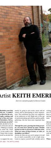 Keith Emerling Artist, Artful Mind Artzine, Oct-Nov 2020 Page 2