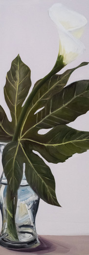 Calla Lily & Fatsia Japonica Leaf