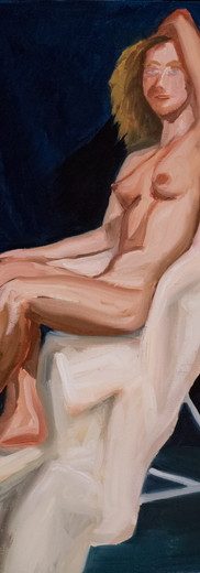 Woman on Covered Chair