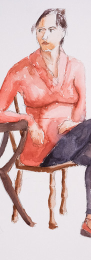 Seated Woman in Red
