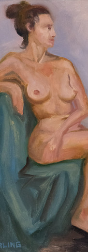 Woman Seated on Green