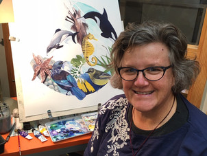 Thank you & farewell to our Artist in Residence, Margaret Tolland