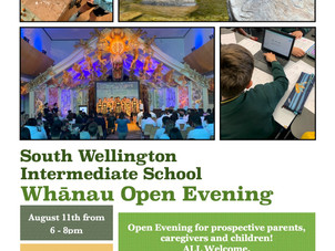 South Wellington Intermediate (SWIS) open evening and school visit
