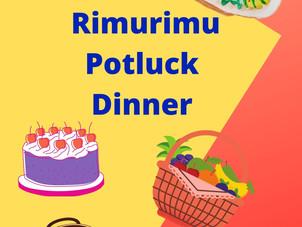 Rimurimu potluck dinner - Mon 14 June,