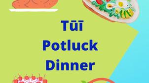 **Rescheduled** Tūī Hub Potluck Dinner and Quiz - Tues 17 Aug, 6–7.30pm
