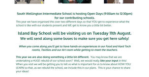 South Wellington Intermediate Open Day for all Y6 children