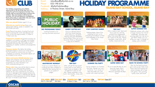 KellyClubHoliday Programme at Island Bay