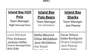 Island Bay Term 4 sports team lists