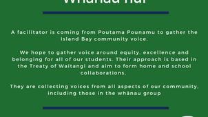 Whanau Hui with Poutama Pounamu - Wed 22 Sep, 6pm in the Staffroom
