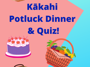 Kākahi Potluck Dinner and Quiz - Thurs 3 June, 6-7.30pm