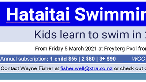 Learn to swim at Hataitai Club
