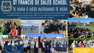 Y7 & 8 open day at St Francis - 9.30-10.30am, 30 September
