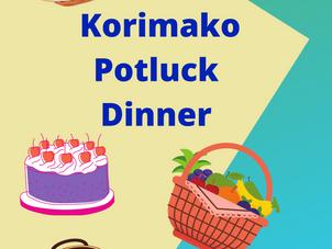Korimako Potluck Dinner - Sunday 13 June, 5pm School Hall