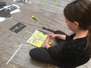 Print making with Margaret