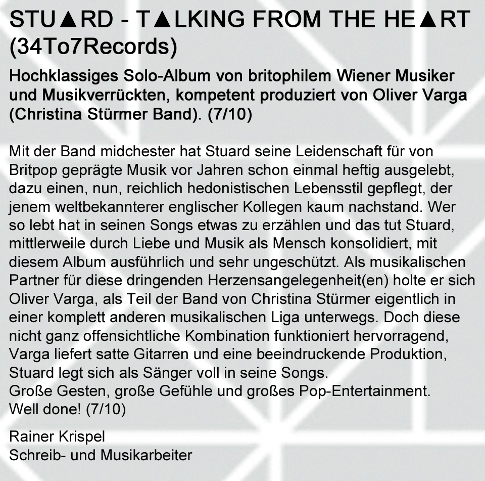 STU▲RD REVIEW Rainer Krispel Sept. 2013.