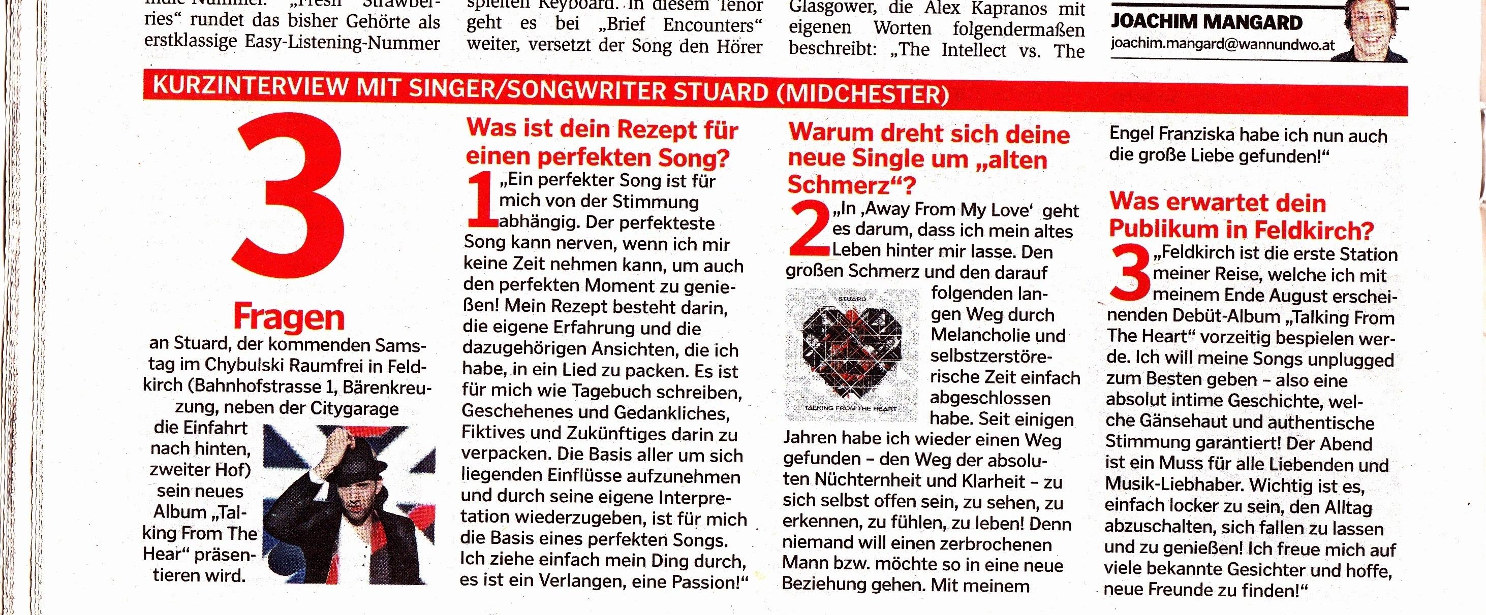 STU▲RD KURZINTERVIEW Wann&Wo 21.08.2013.