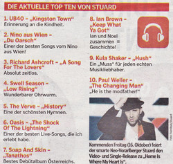 STU▲RD TOP TEN Wann&Wo 11.10.2015