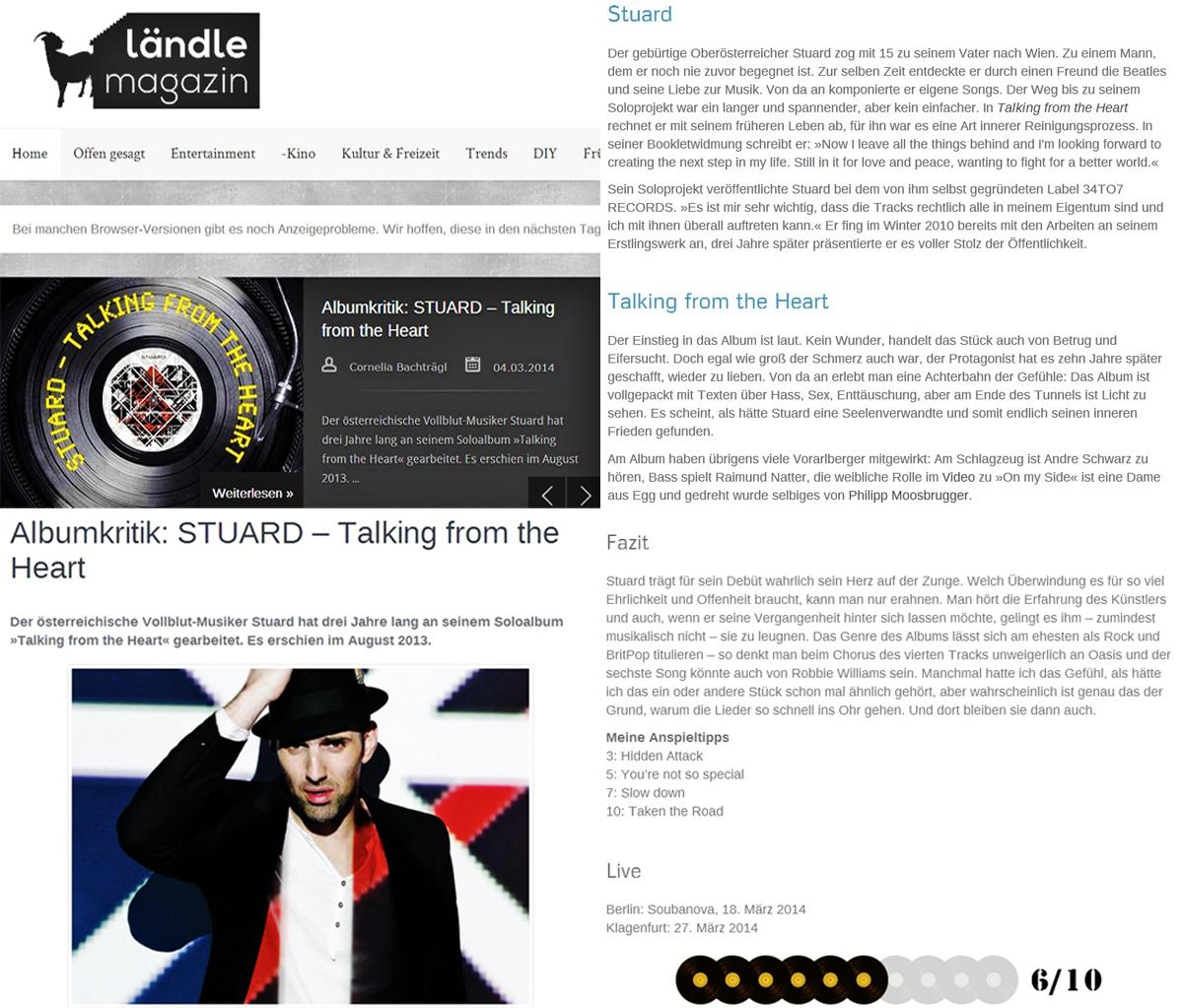STU▲RD REVIEW LändleMag 05.03.2014