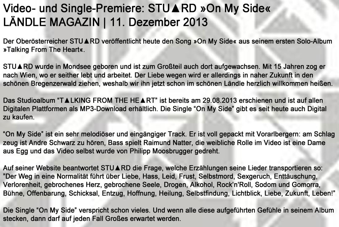 STU▲RD VIDEO LändleMag 11.12.2013