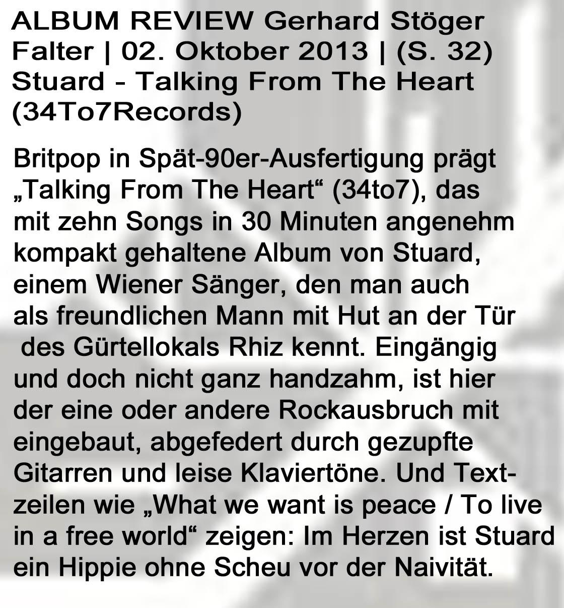 STU▲RD REVIEW Der Falter Gerhard Stöger