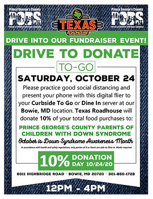 Drive to Donate • Oct 24, 2020