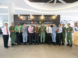 Close to 110 business owners and NSmen reaffirmed their commitment towards national defence at the b