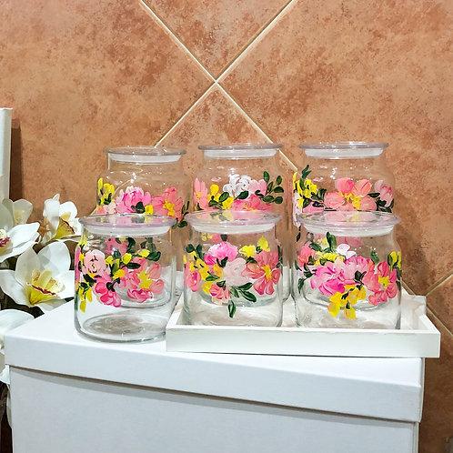 Pre-order Libbey Glass Cookie jar set of 6