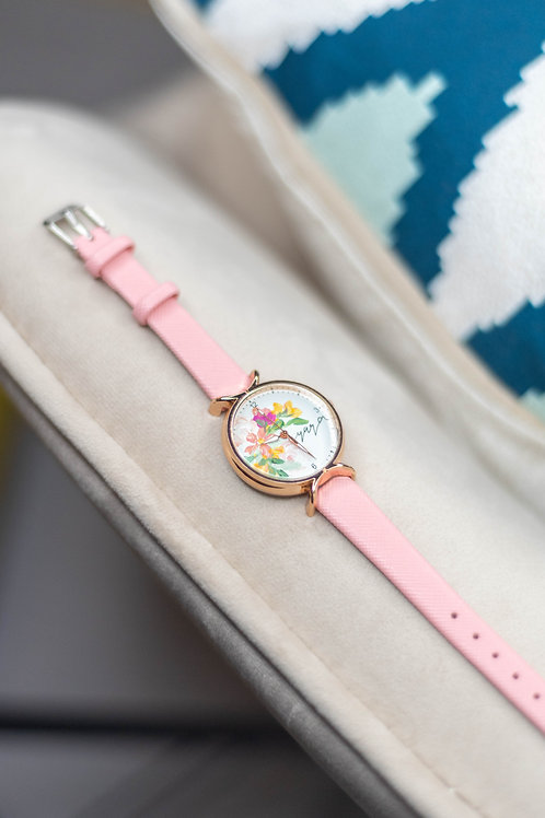 Roundy Leather strap 02 - Pink